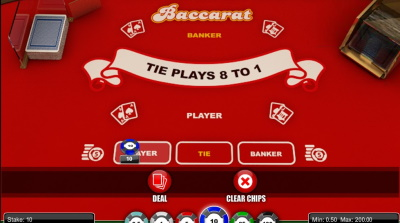 1x2 Gaming Baccarat Has Standard Betting Options