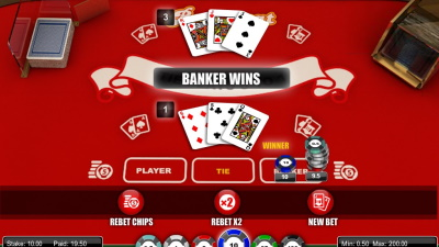 1x2 Gaming Baccarat Rebet After a Win