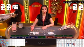1xBet Branded Live Baccarat Tables