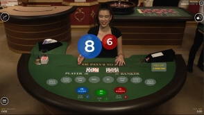 Live Baccarat from the Malta Studio of Live Media Casino at 1xBet