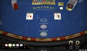 Baccarat by Espresso Games at 22Bet Casino