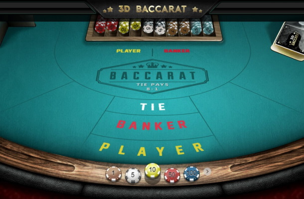 Play 3D Baccarat by Iron Dog for free