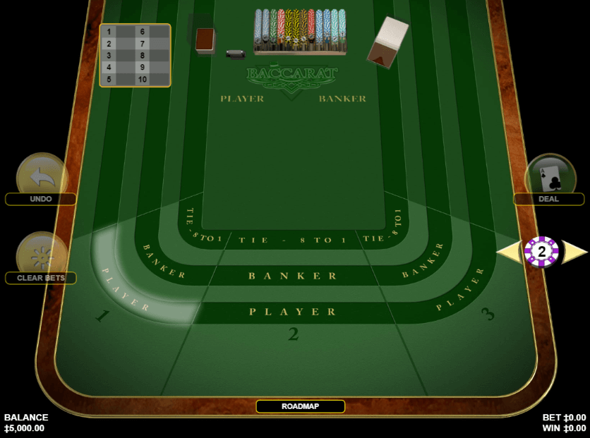 Play American Baccarat at Wunderino