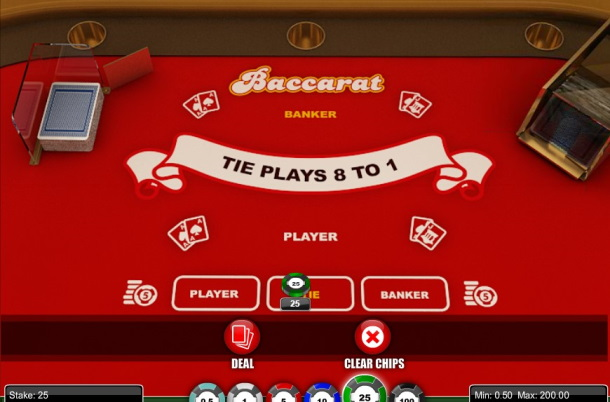 Play Baccarat by 1x2 Gaming for free