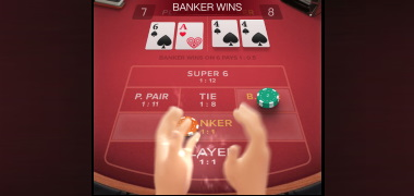 Winning Animations in Baccarat Deluxe