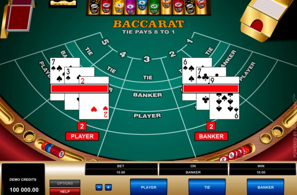 Play Baccarat by Microgaming for free