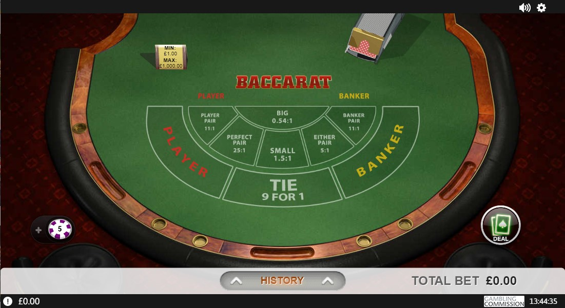 Casino.com Features RNG Baccarat Games by Playtech
