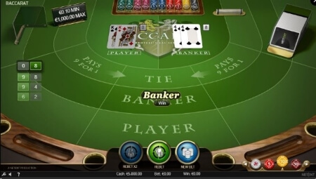 Play Baccarat Pro by NetEnt for free