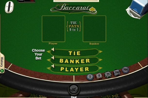 Play Baccarat by RTG for free