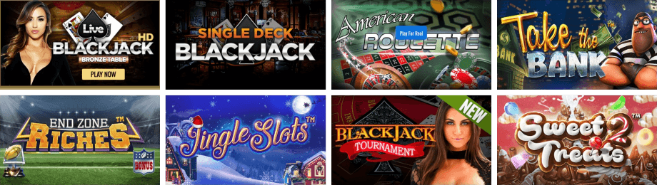 More Than 200 Games at the Big Spin Casino Lobby