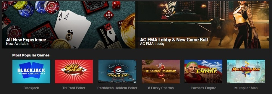 bodog88 Casino's Game Lobby