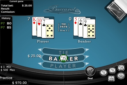 Classic RNG Baccarat Game at Bodog88 Casino