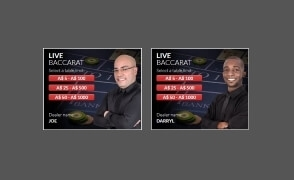 Live Baccarat by Visionary iGaming at BoVegas Casino