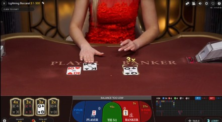 The Latest Lightning Baccarat Game from Evolution at Casino Gods