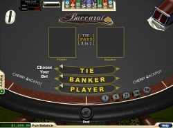 playing Baccarat at Cherry Jackpot casino