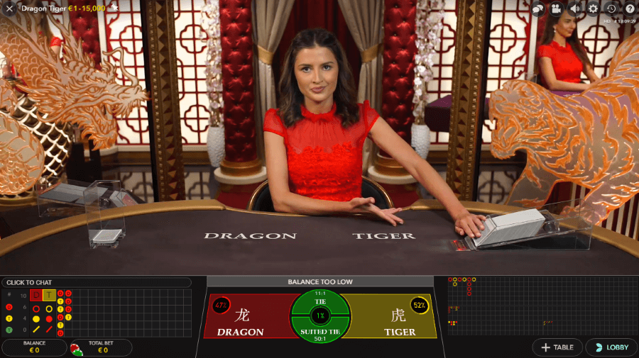 Dragon Tiger Baccarat at Cherry Casino
