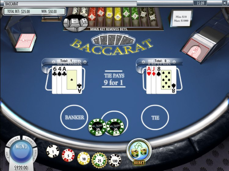Eclipse Casino Features Rival Gaming Baccarat