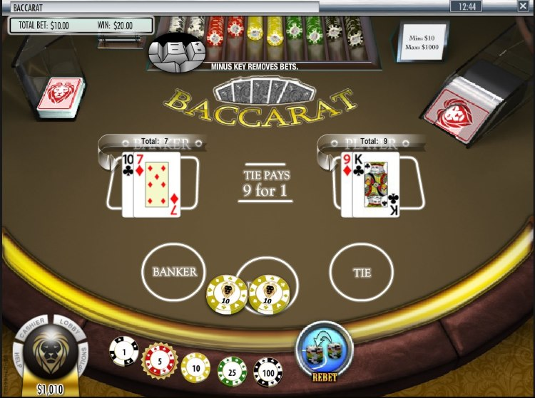Rival Baccarat Game at Golden Lion Casino