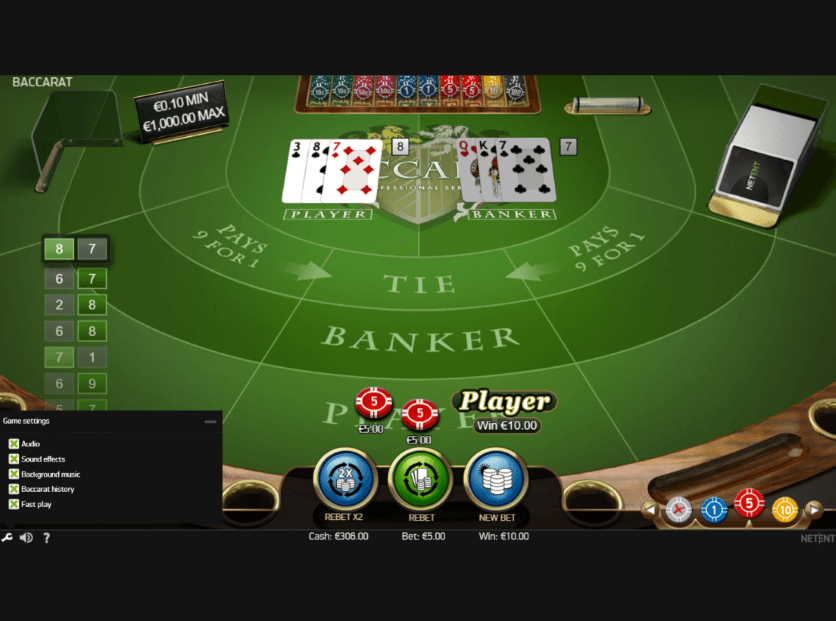 Wunderino High-Limit Baccarat