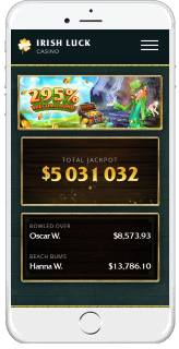 Irish Luck is fully optimized for mobile casino gaming