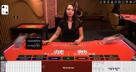 Sun Macau Live Baccarat at MaChance Casino