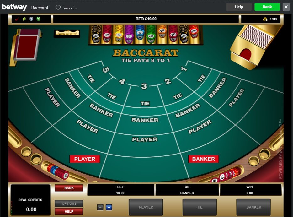 Microgaming Baccarat at Betway Casino