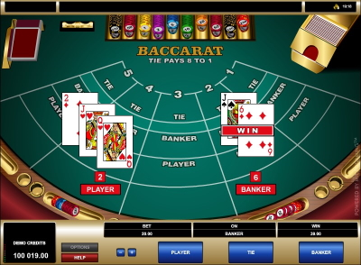 Microgaming Baccarat Winnigs