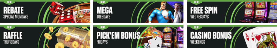 Ongoing bonus offers at MyBookie Casino