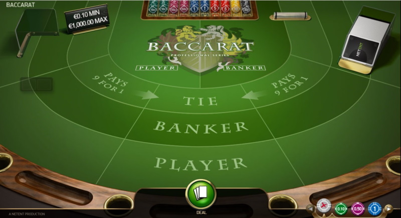 NetEnt Baccarat Pro at No Bonus Casino