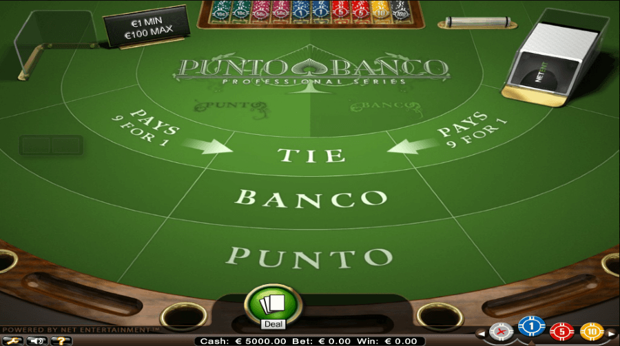 Play Baccarat Punto Banco by NetEnt for free
