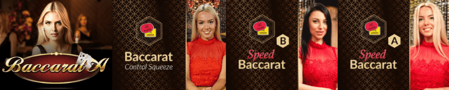 Casino RedKings offers 4 different baccarat versions to the customers