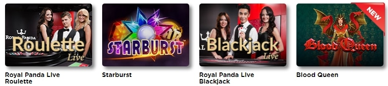 royal panda casino games