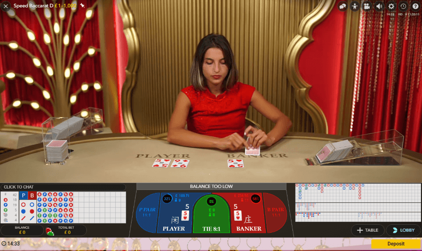Speed Baccarat Live at Guts Casino