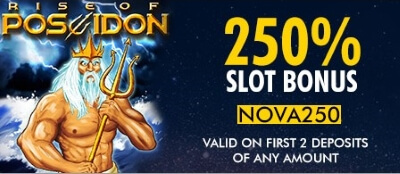 Slot bonus is available on your first two deposits at SuperNova Casino