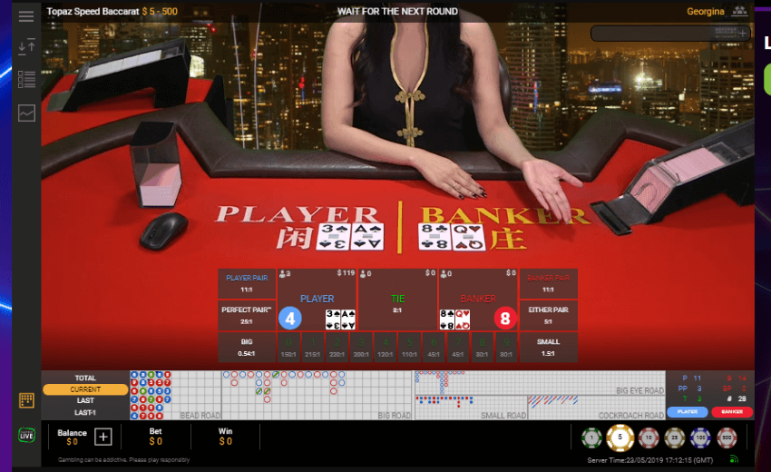 Live Topaz Speed Baccarat at BGO