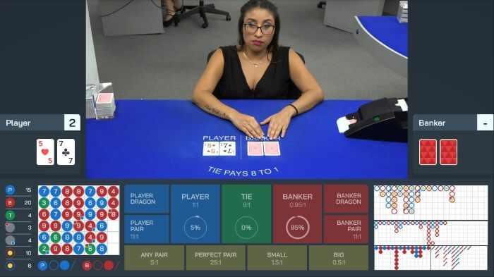 Live Baccarat by Visionary iGaming at Two-Up Casino