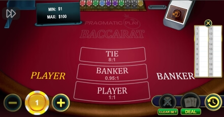 Pragmatic Play Baccarat at Unique Casino