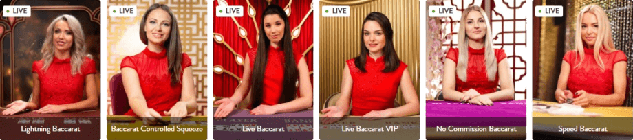 Evolution Gaming Live Baccarat at Wishmaker Casino