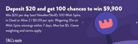 Wishmaker Casino Welcome Bonus